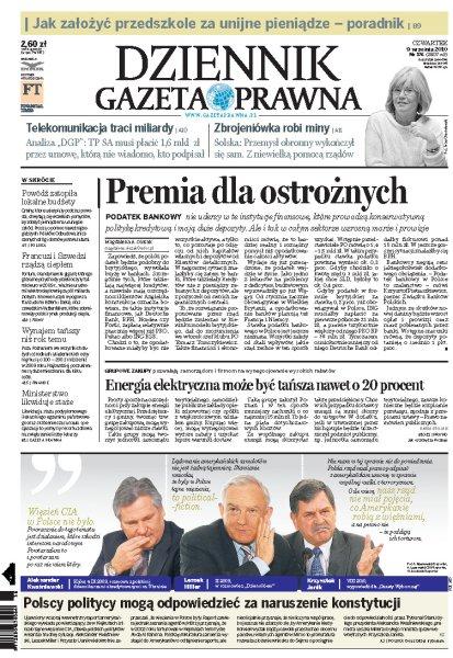 Dziennik Gazeta Prawna 09.09.2010 - Czwartek